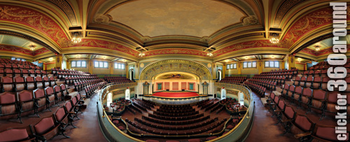 Memorial Hall, Cincinnati, Balcony