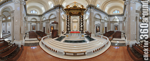 OLMHT Chapel sanctuary and baldacchino